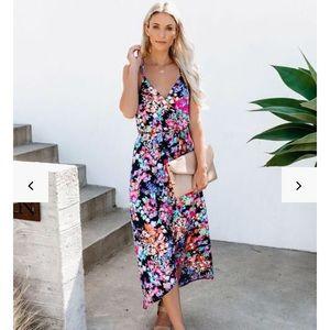 Vici Summer rain high low maxi dress